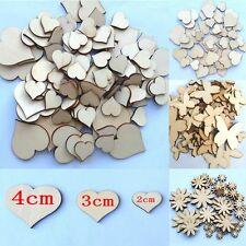 Mixed Sizes Craft Sewing Wood Buttons Flower Butterfly Heart Scrapbooking