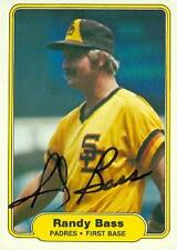 Randy Bass autographed Baseball Card (San Diego Padres) 1982 Fleer #566