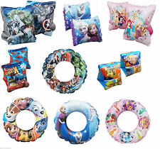 DISNEY AGE 3-6 INFLATABLE SWIMMING ARM BANDS  AVENGERS FROZEN PRINCESS GIRL BOY