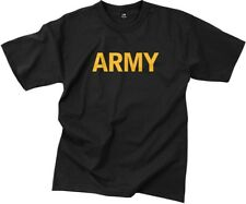 Black Army Physical Training APFU Workout PT T-Shirt