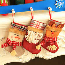 Christmas Stocking Santa Claus Hanging Gift Bag Decoration Party Ornament EF