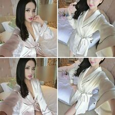 Fashion Women Bridesmaid Bridal Sleepwear Bathrobes Kimono Satin Robe Mini Dress