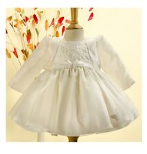 Jaan Collection Girls Ivory Butterfly Christening & Special Occasion Dress