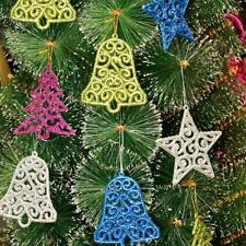 6pcs Christmas Tree Bell Star Party Xmas Tree Decorations Hanging Ornament Decor