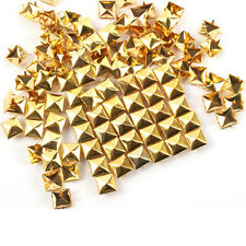 100pcs DIY Metal Punk Pyramid Spike Rivet Studs Leathercraft Cool