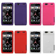 For Motorola Droid Razr XT912 Silicone Skin Rubber Soft Case Phone Cover