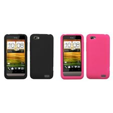 For HTC One V Silicone Skin Rubber Soft Case Phone Cover