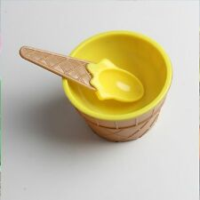 Container Holder With Spoon Ice Cream Bowls Ice Cream Cup Ice Cream Scoops