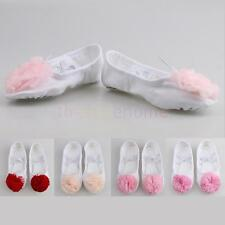 Trendy Soft Child Canvas Practice Shoes Dancing Ballet Shoes Slippers Gymnastics