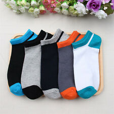 Fashion Men Casual Socks Cotton Mixed Colors Mens Crew Ankle Low Cut Socks Lot