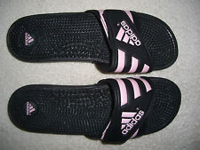Adidas Adissage black/pink slides massaging slippers sandals YSS 606002 size 12