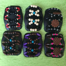 Vintage Magic Hair Combs,Beaded Stretchy Wooden Butterfly Double Clips Headwear