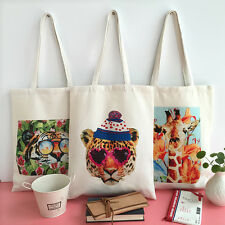Reusable Bags, Eco-friendly Canvas Tote Large, Durable Sturdy Animal Design