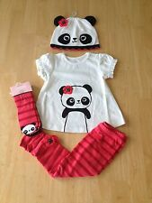 NWT Gymboree Happy Panda Set 6 9 12 18mo Panda Tee Leggings Hat Socks 7pc