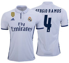 ADIDAS SERGIO RAMOS REAL MADRID HOME JERSEY 2016/17 CWC FIFA PATCH.