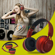 Red -MD77 FM/TF Bluetooth Headphone Stereo Headset Earphone For Call Phone Apple