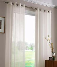 Sheer Voile Eyelet Curtain -120cm x 221cm Drop-Ready to Hang x 1 curtain