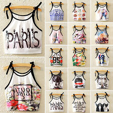Women Sexy Crop Top Sleeveless Tee Mini Tank Vest Girls Strappy Bralet Clubwear