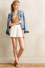 New $225 Anthropologie Twelfth Street by Cynthia Vincent White Shorts PETITE
