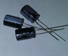 10pc or 20pc - Radial Electrolytic Capacitors - 10v 1000uF +/- 20% - USA Ship