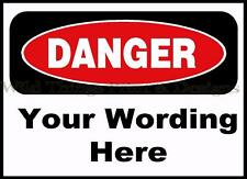 VINTAGE STYLE RETRO METAL PLAQUE: WARNING Sign with your Wording Sale's Sign  Ad