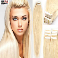 "4A 16""-22"" Tape In Skin Weft Remy Human Hair Extension 20pcs/50g 40pcs/100g I397"