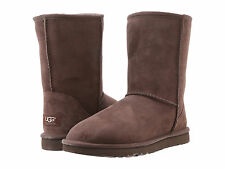 Women UGG Australia Classic Short Suede 5825 Chocolate Size 7 New 100% Authenti
