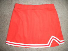 NEW Motionwear CHEER Cheerleading Orange White Skirt Uniform Girls 6 10 12 14