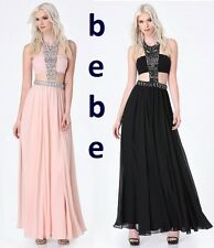 BEBE JEWELED BANDEAU GOWN (R$299) Black & Pale Blush New w/Tags Dress Size: 6, 8