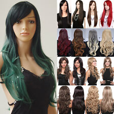 Heat Resistant Synthetic Hair Ombre Two Tone Full Wig Natural AS Owner Real Hair