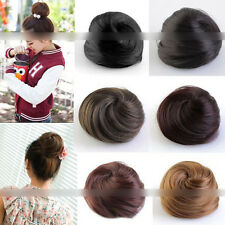 Stylish Pony Tail Women Clip in/on Hair Bun Hairpiece Extension Scrunchie Top