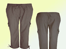 Trousers Ladies Trousers Cargoart Summer trousers sizes 46 - 58 brown new