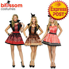 CA149 Halloween Ladies Instant Apron Costume Vampiress Minnie Mickey Mouse Witch