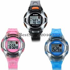 Boy Girl Child Fashion LED Analog Quartz Alarm Date Sport Electronic Wrist Watch