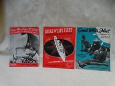 Great White Fleet United fruit Co 3 Huge Foldout Brochures 1937-1938 Season