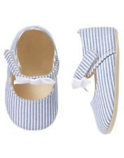 NWT Gymboree Island Hopper Striped Crib Dress Shoes Baby Girl Infant 01