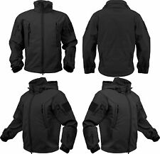 Black Waterproof Soft Shell Special Operations Triple Layered Tactical Jacket
