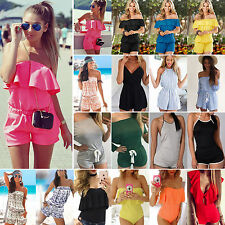 Fashion Womens Mini Playsuit Jumpsuit Bodysuit Outfit Summer Beach Holiday Dress