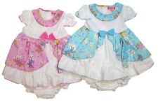 BABY GIRLS SUMMER FLOWER PRINT DRESS PANTS HEADBAND 3 PC SET OUTFIT 6 TO 24 MNTH