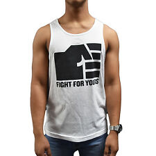 New UFC Reebok Fight For Yours Fist Tank - White/Black