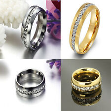 Sz4-15 CZ Stainless Steel Titanium Couple Ring Wedding