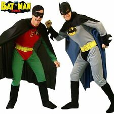 Adult Batman Robin Superhero Halloween Gents Stag Party Mens Fancy Dress Costume