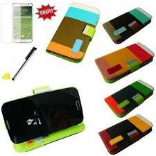 FOR GALAXY S4 I9500 I9505 SYNTHETIC LEATHER BAG COVER PROTECTIVE CASE FLIP NEW