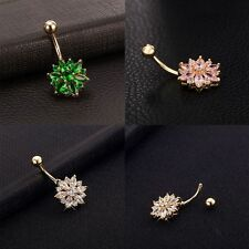 Stainless Steel Belly Button Rings Body Piercing Rhinestone Navel Jewelry