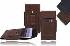 Apple iPhone SE /5/ 5S Leather Bag Belt Bag with Clip Case Cover