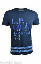 CP Company Men's Hand Painted T-Shirt Navy Blue (CPTS001a)