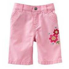 NWT-Girls Sonoma Pink Floral Skimmer Pants Capris- sz 0/3 months