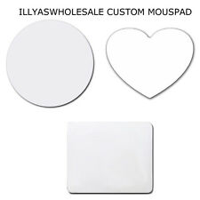 Custom Heart Round Personalized Printed Mouse Pad Mat Thick Rubber Soft Touch