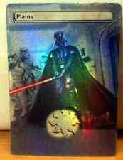 FOIL MTG PLAINS ALTERED ART STAR WARS DARTH VADER STORMTROOPERS COMMANDER EDH