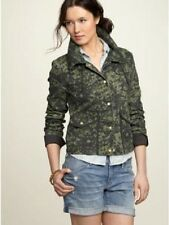 NWT GAP ABSTRACT FLORAL CAMO PRINT MILITARY SNAP FRONT CANVAS JEAN JACKET XS